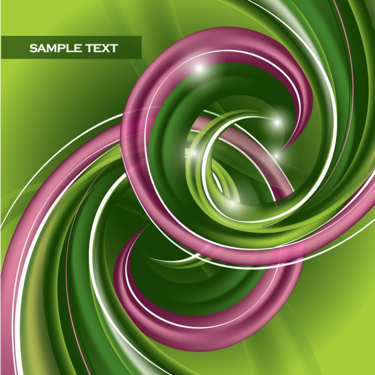 free vector Dynamic abstract spiral pattern 02 vector