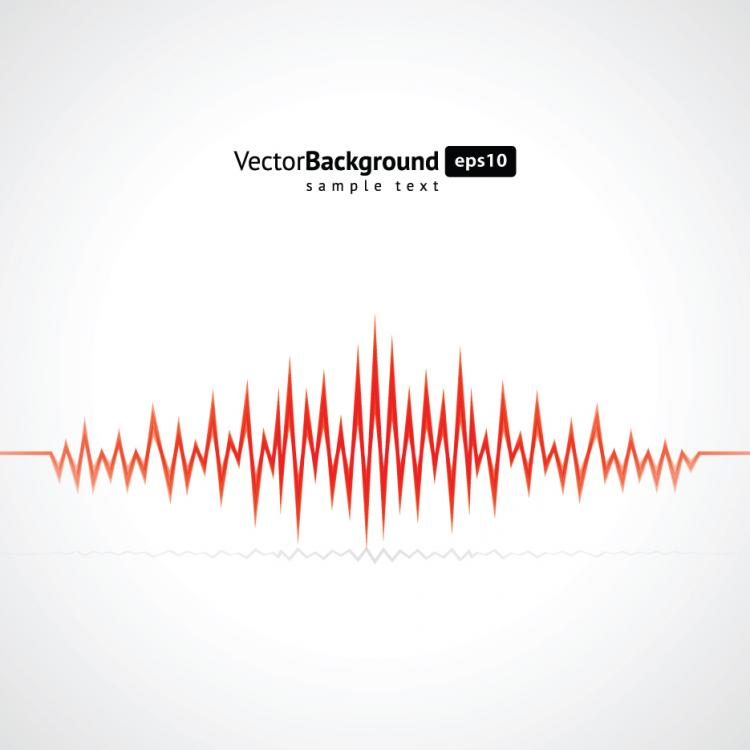 free vector Dynamic audio waves 05 vector