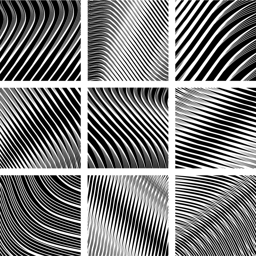 free vector Dynamic black and white spiral pattern 02 vector