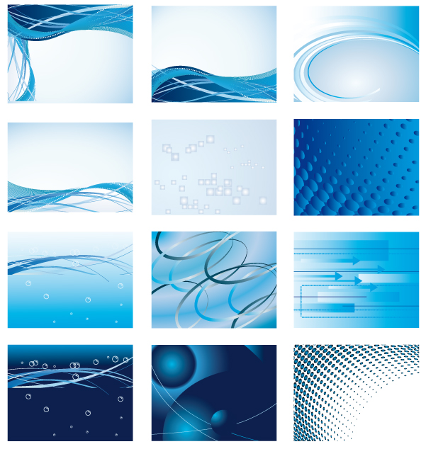free vector Dynamic blue background series vector