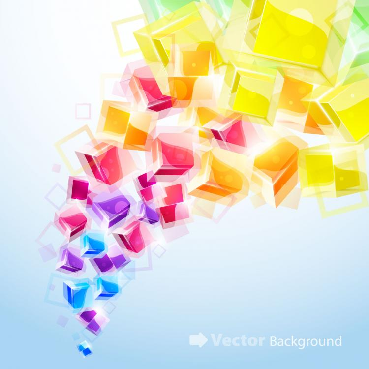 free vector Dynamic brilliant 3d stereo effects figure 01 vector