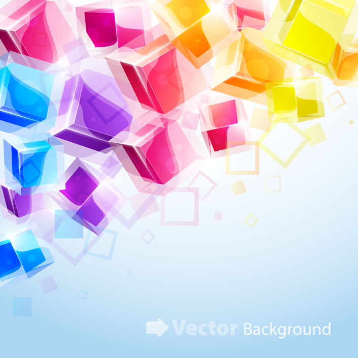 free vector Dynamic brilliant 3d stereo effects figure 02 vector