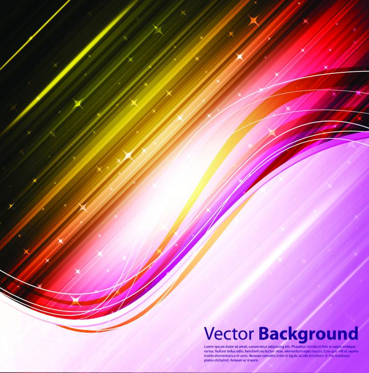free vector Dynamic brilliant color background 04 vector