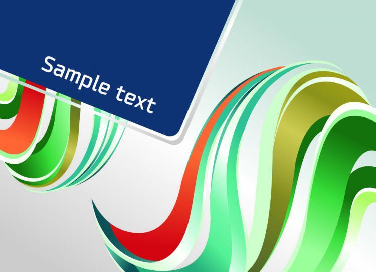 free vector Dynamic color bar 02 vector
