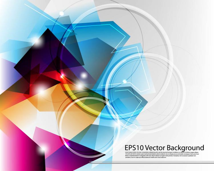 free vector Dynamic colorful abstract elements 04 vector