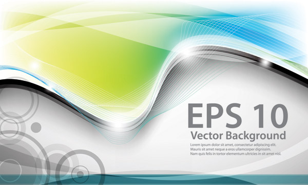 free vector Dynamic curve of the background vector