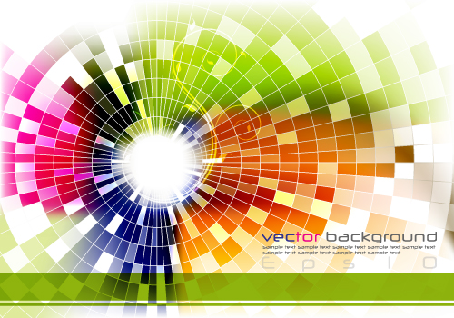 free vector Dynamic effects light color vector