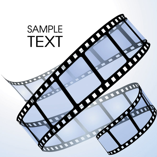 Dynamic Film Vector Material Winding Twisting Banner Free Vector ...