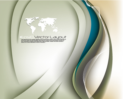 free vector Dynamic flow line background 03 vector