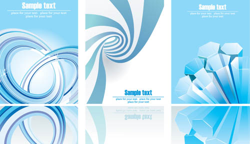 free vector Dynamic flow line business card template vector