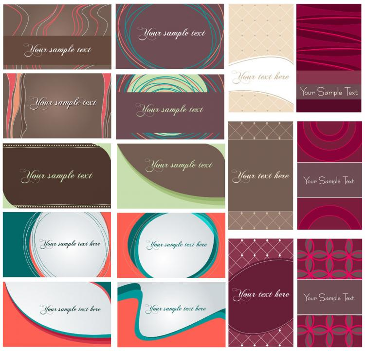 free vector Dynamic flow line card vector