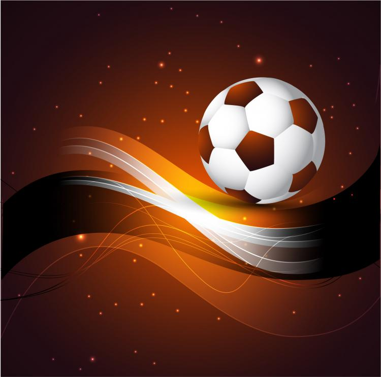 free vector Dynamic football 01 vector