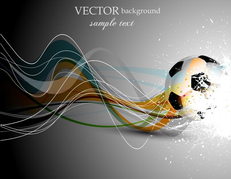 free vector Dynamic football 04 vector