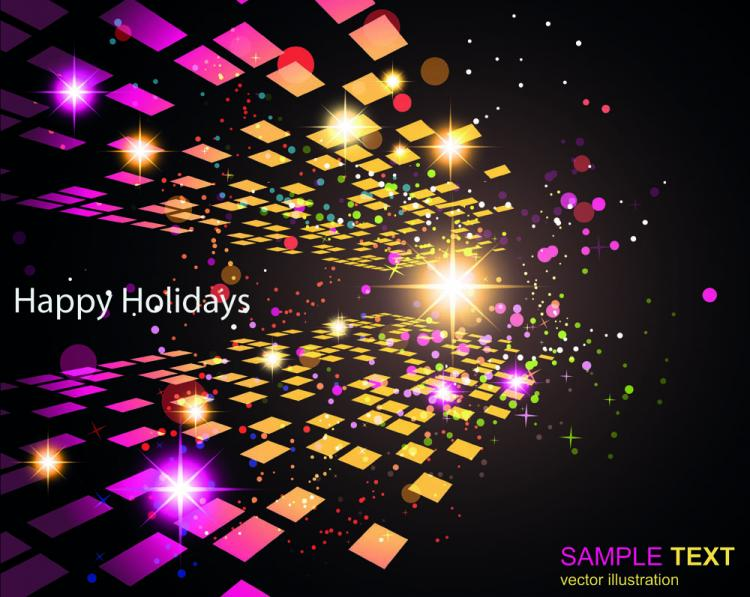 free vector Dynamic gorgeous bright color 01 vector