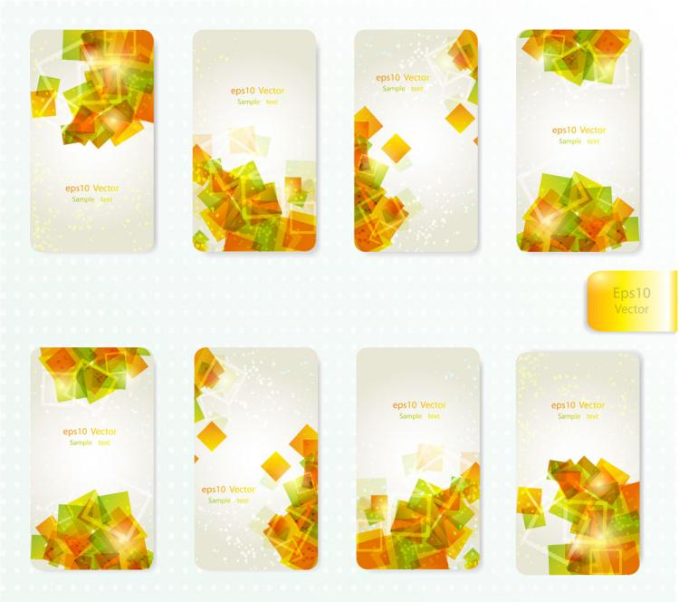 free vector Dynamic gorgeous card background 01 vector