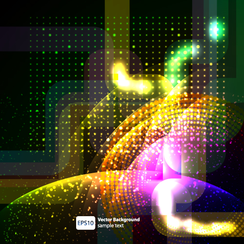 free vector Dynamic halo background 01 vector 17202
