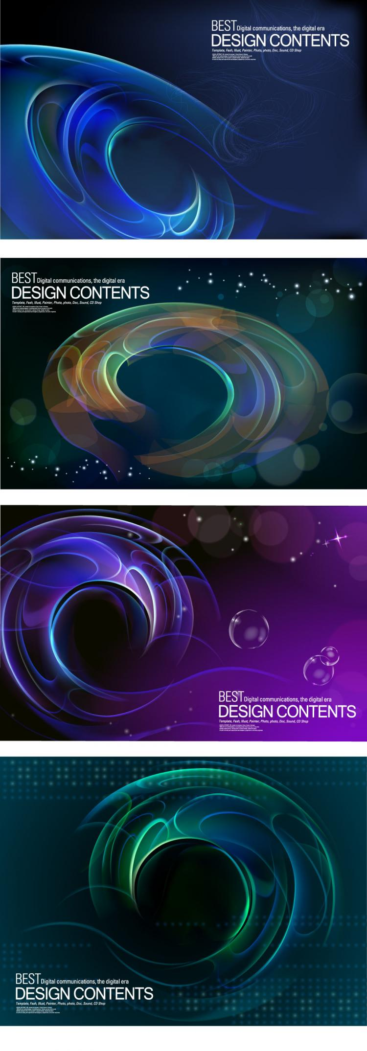 free vector Dynamic halo background 02 vector