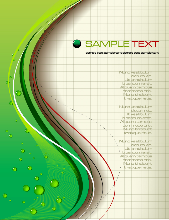 free vector Dynamic line vector surface drops