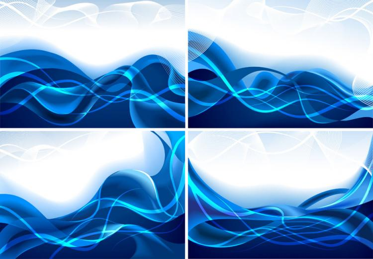 free vector Dynamic lines of blue vector