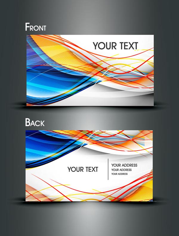 free vector Dynamic lines of business card templates vector