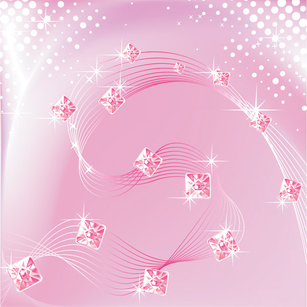 free vector Dynamic lines of pink and purple background vector