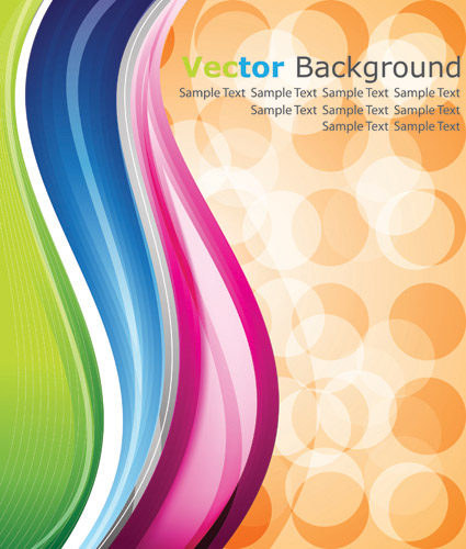 free vector Dynamic lines of the background vector 16282