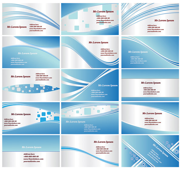 free vector Dynamic lines of the blue card background vector