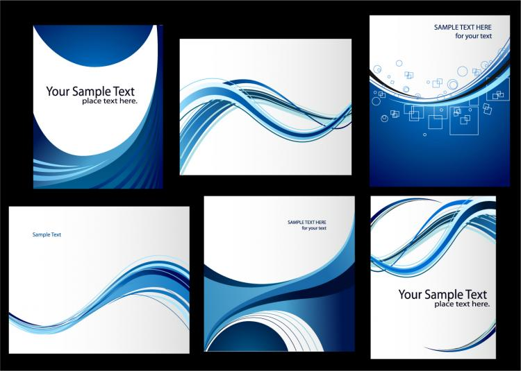 dynamic lines of the blue card template vector free vector 4vector. Black Bedroom Furniture Sets. Home Design Ideas