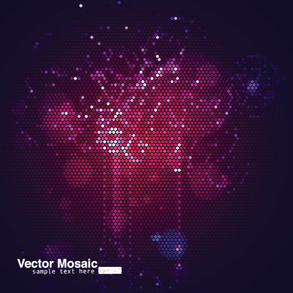 free vector Dynamic mosaic star background 05 vector