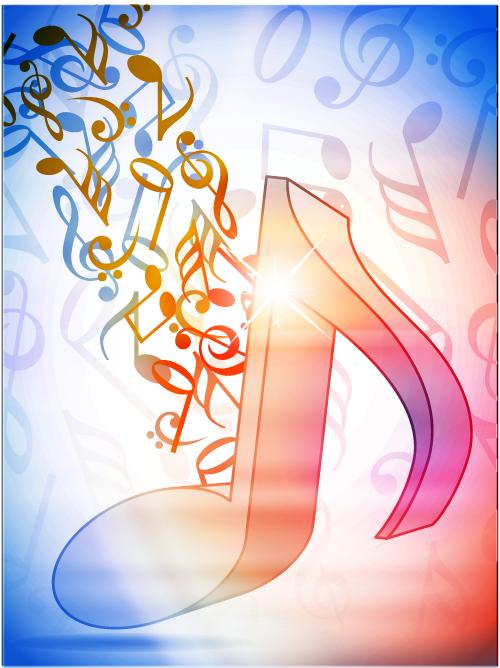 free vector Dynamic musical notation 01 vector
