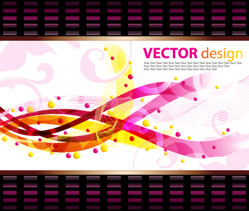free vector Dynamic pattern background 05 vector