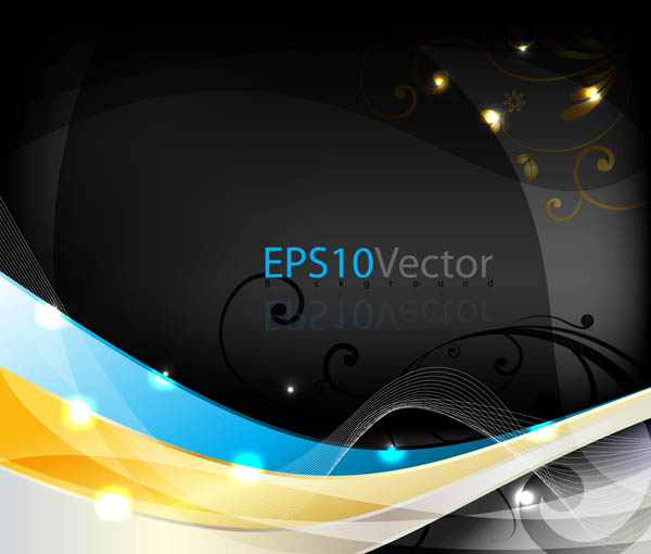 free vector Dynamic pattern background vector
