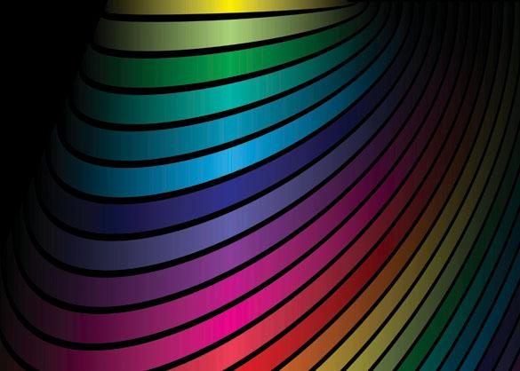 free vector Dynamic rainbow vector