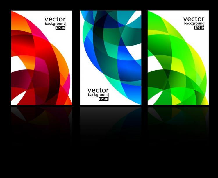 free vector Dynamic ribbon card 02 vector