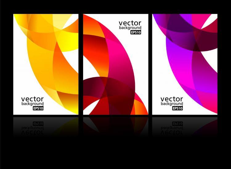 free vector Dynamic ribbon card 03 vector