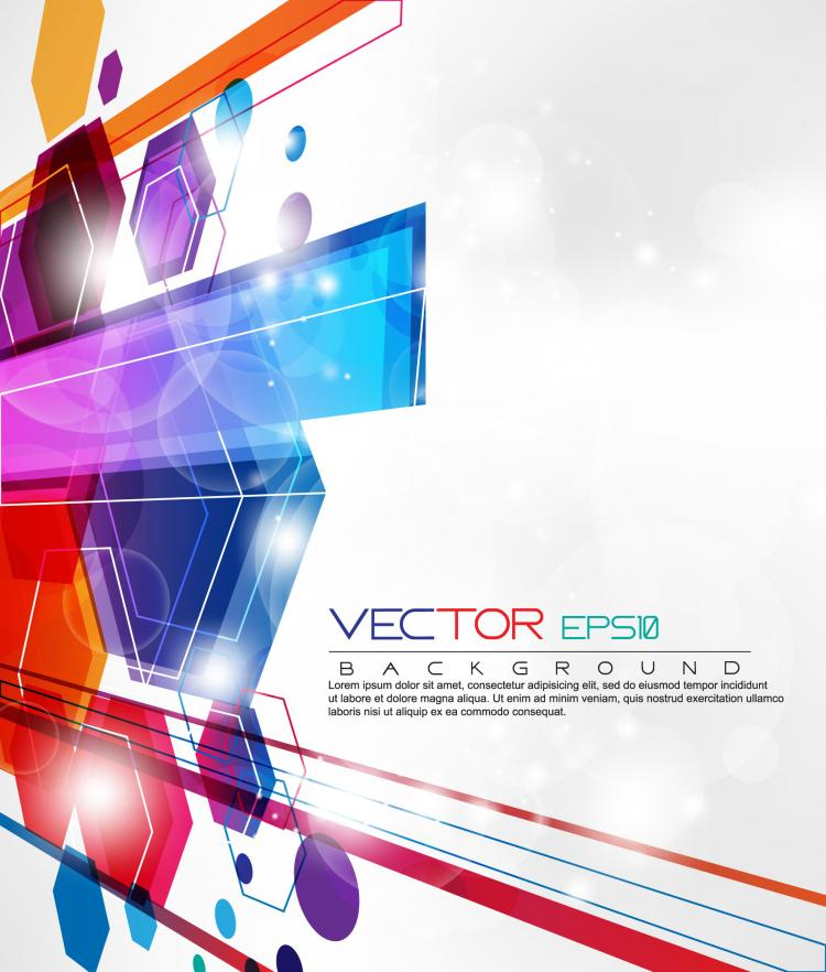 free vector Dynamic set of abstract elements 03 vector