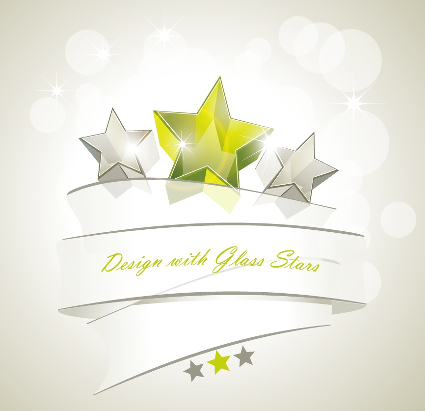 free vector Dynamic star background vector