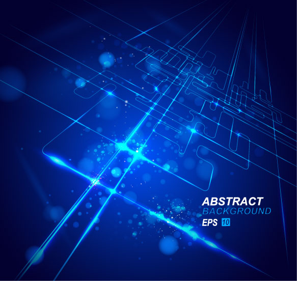 free vector Dynamic technological background bright 02 vector