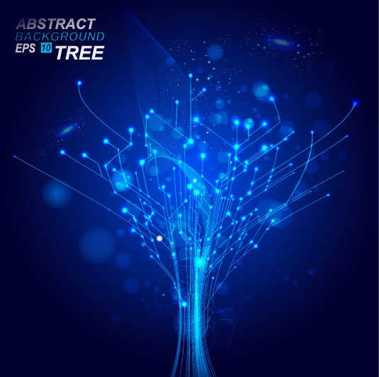free vector Dynamic technological background bright 03 vector