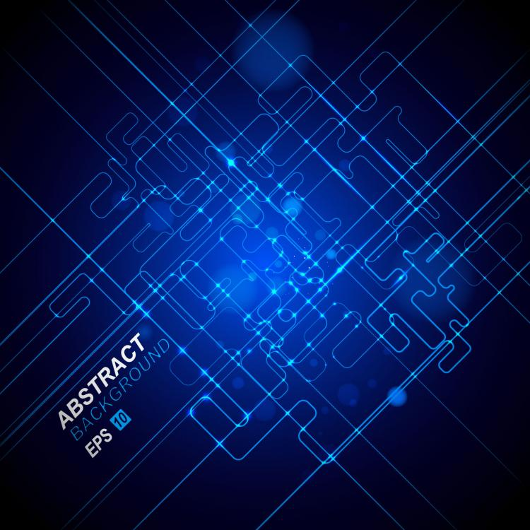 free vector Dynamic technological background bright 04 vector