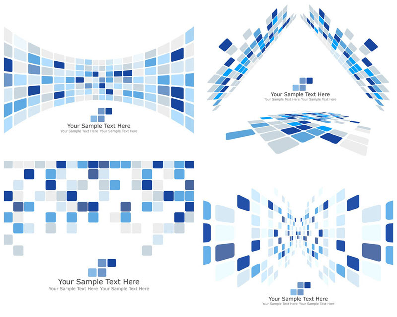 free vector Dynamic technology box pattern background 03 vector