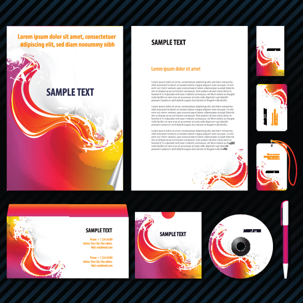 free vector Dynamic themes simple vi template vector