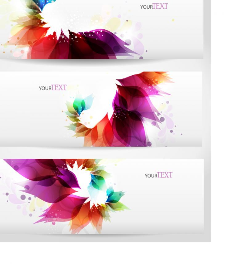 free vector Dynamic trend banner01vector
