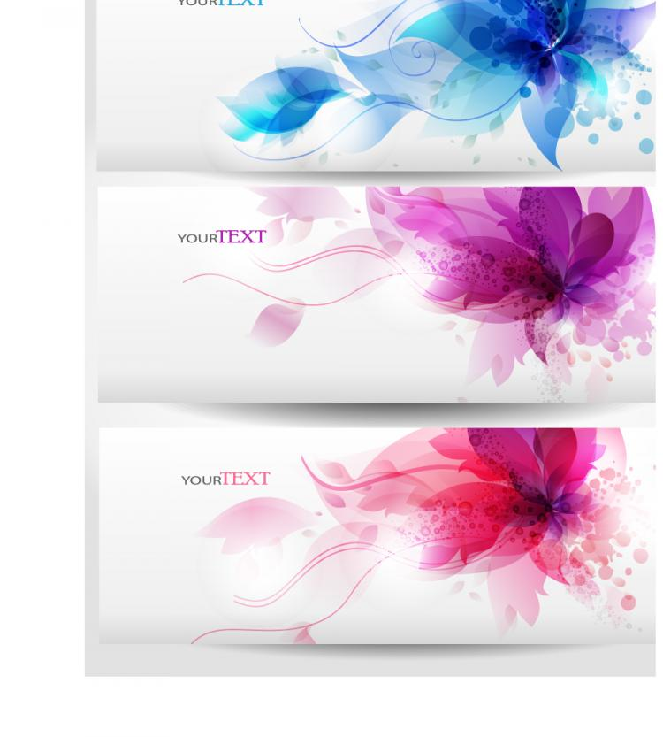 free vector Dynamic trend banner02vector
