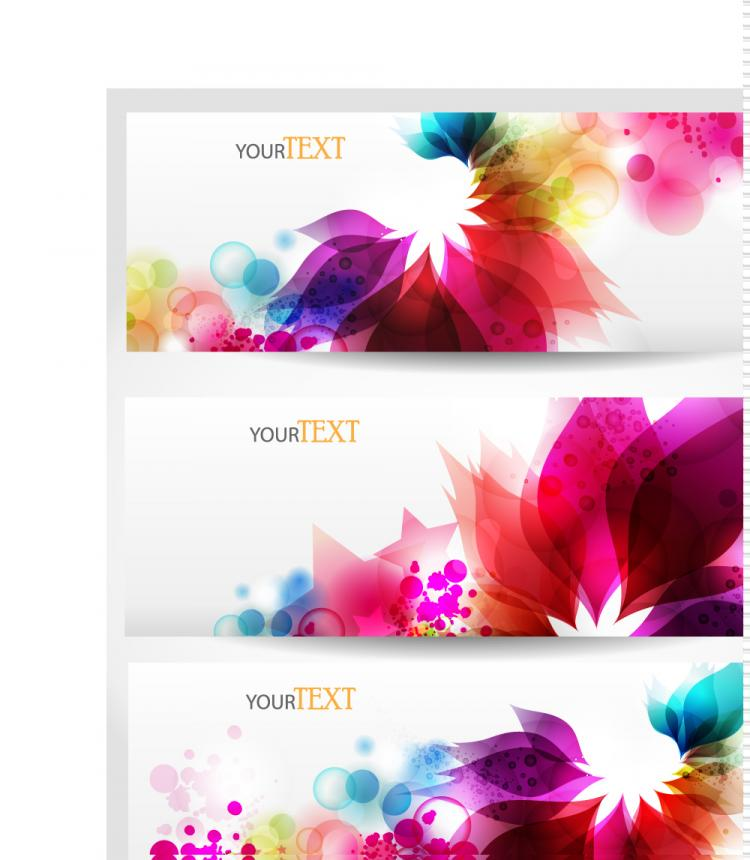 free vector Dynamic trend banner03vector