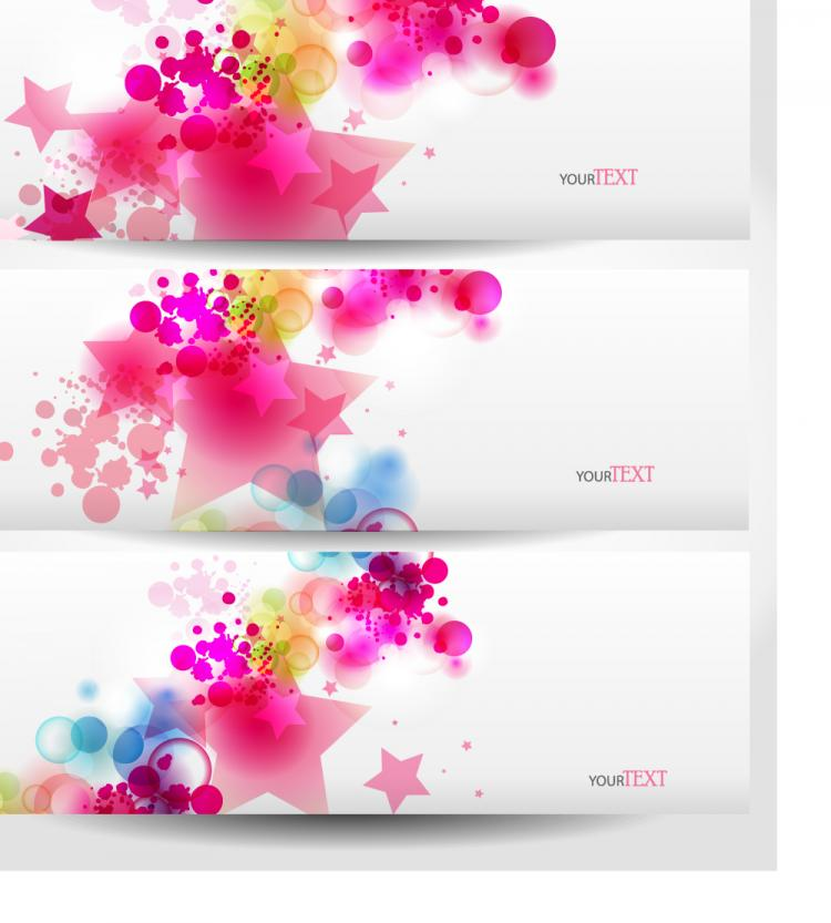 free vector Dynamic trend banner04vector
