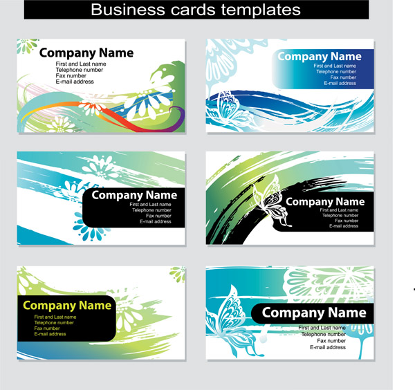 free vector Dynamic vector colorful cards