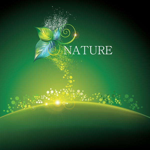 free vector Dynamic vector green background
