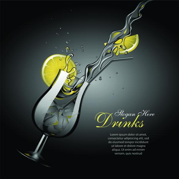 free vector Dynamic vector lemonade