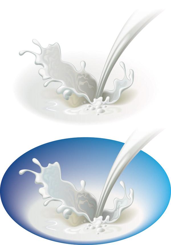 free vector Dynamic vector milk
